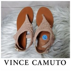Vince Camuto Women's Brush Pink Leather Sandal